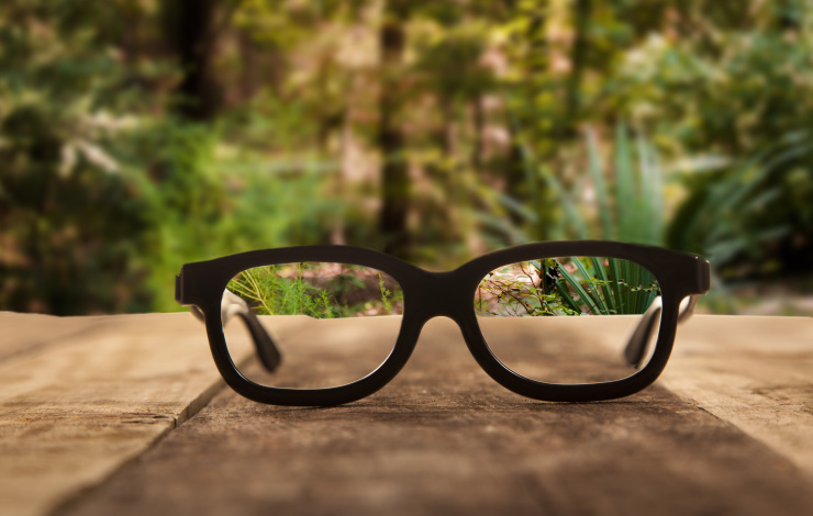 clarity through reading glasses