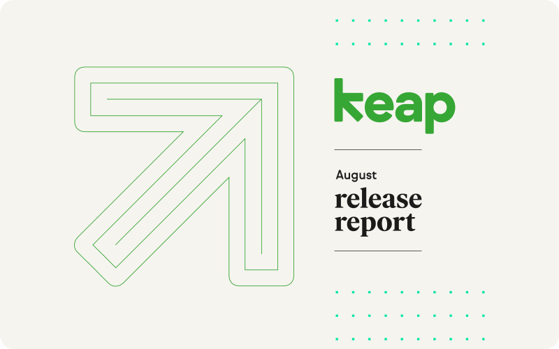 Keap's August 2020 Release Report transcript