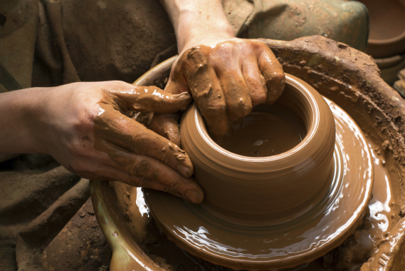 making pottery
