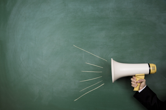 megaphone calling to action