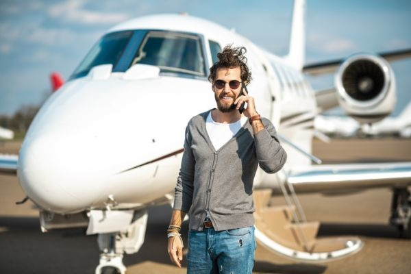 celebrity influencer marketing private jet