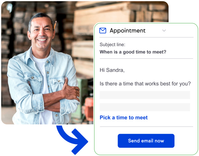 Keap create appointment screenshot
