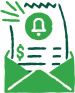 Icon depicting opening an invoice