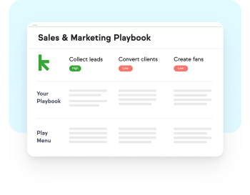 A diagram showing the Sales & Marketing Playbook
