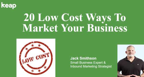 20 low-cost ways to market your business