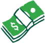 Icon of a stack of money