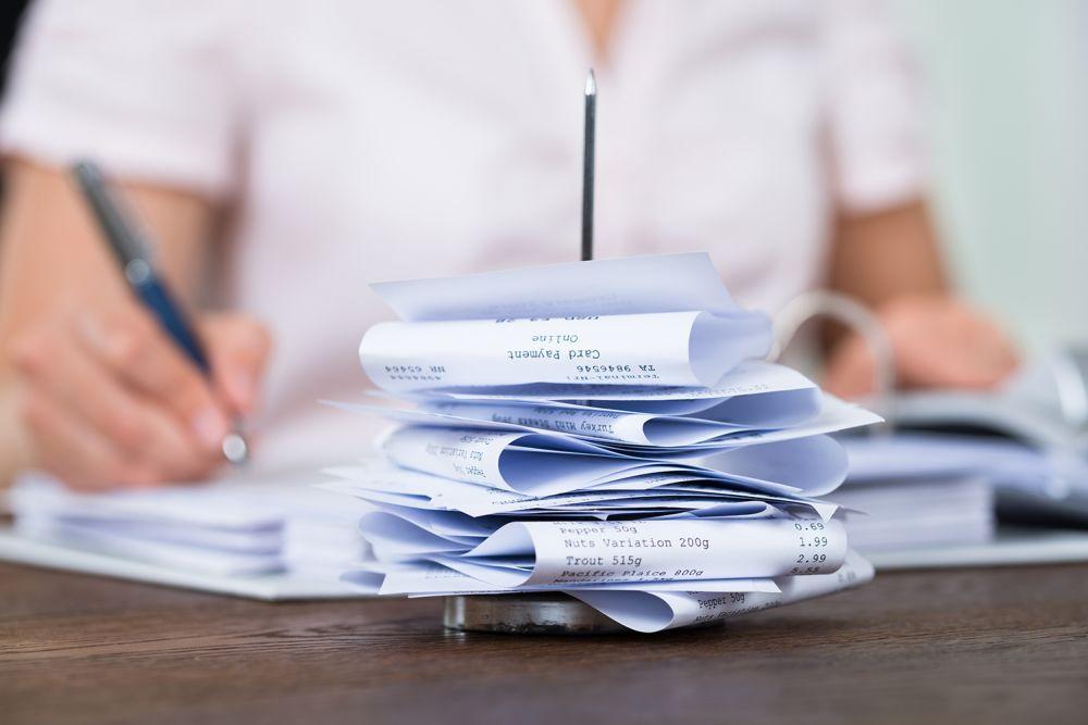 Receipt stack