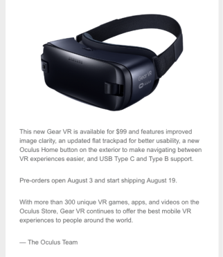 oculus sales promotion example