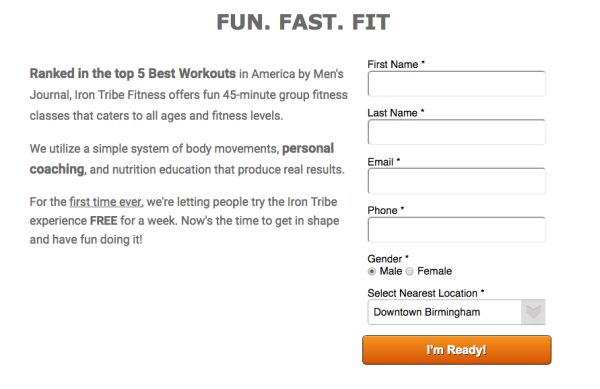 Iron Tribe Fitness free week ad