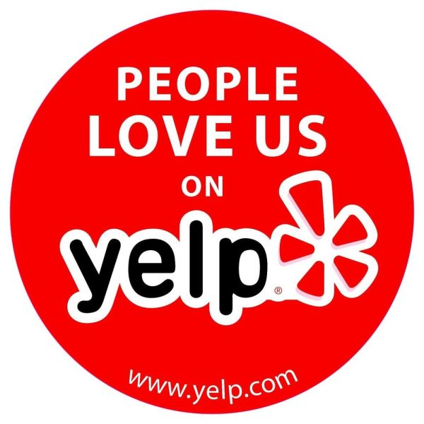 People love us on Yelp sticker