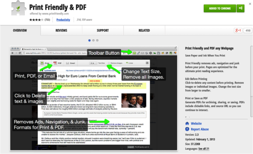 Screenshot showing how to use Chrome plug-in Print Friendly & PDF.png