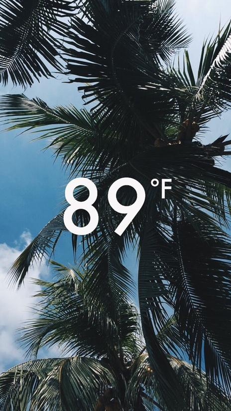 Snapchat story temperature stamp