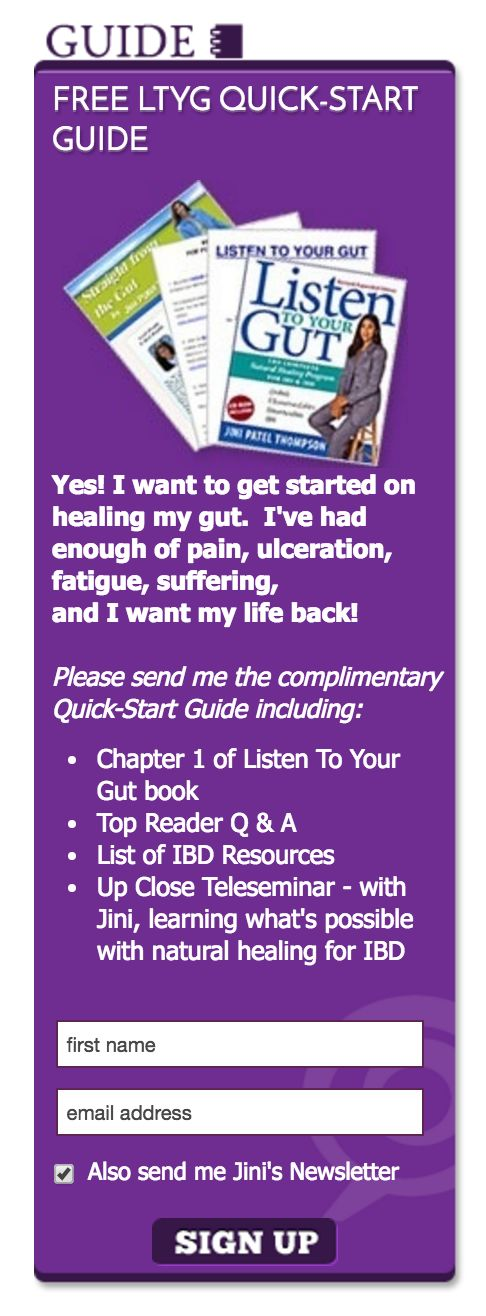 Listen to your Gut ebook ad