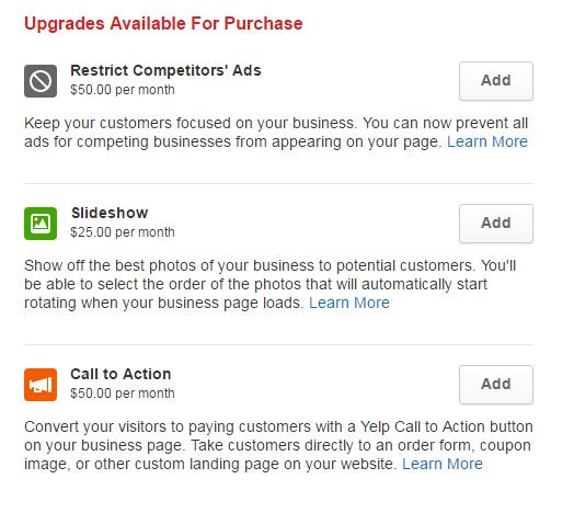 Yelp Upgrades